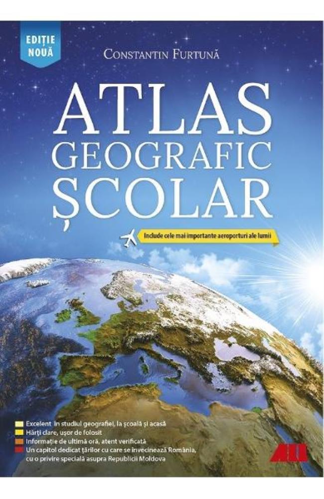 Atlas geografic scolar. Editia.6