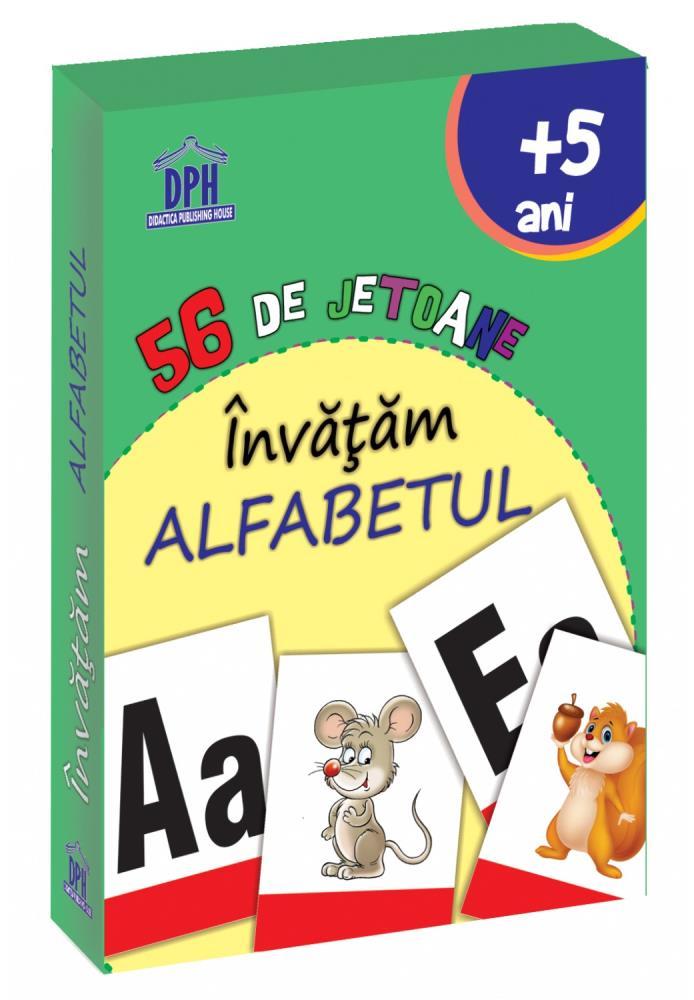 56 de Jetoane - Invatam - Alfabetul